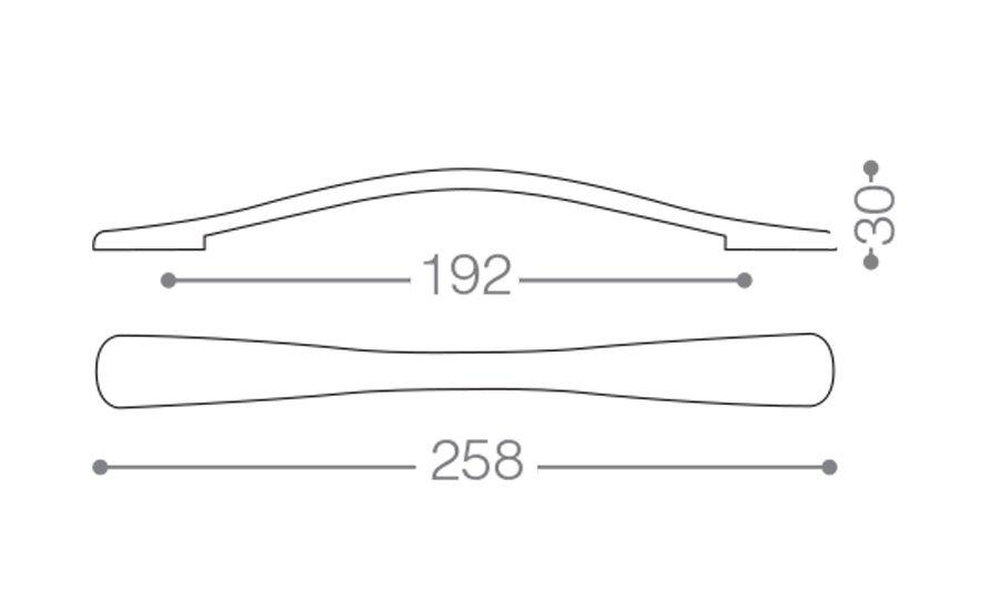 نقشه خطی دستگیره کابینتی کلاسیک 317